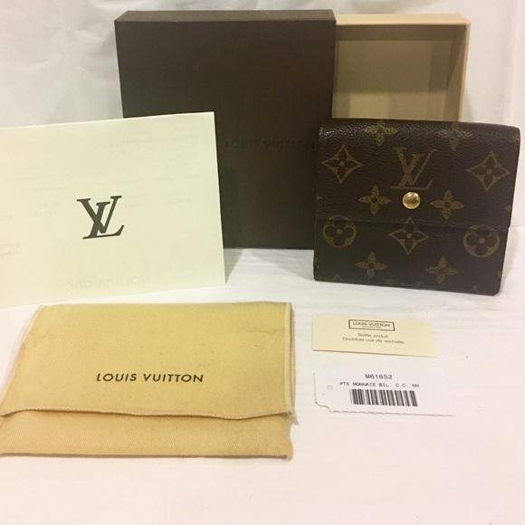 d6c280b7e6d4 Louis Vuitton Handbags - LOUIS VUITTON MONOGRAM Porte-Monnaie Billet Wallet